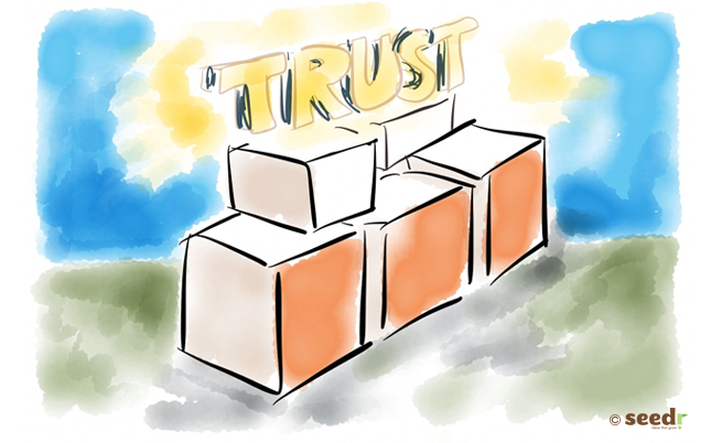 bricks and foundations that build trust