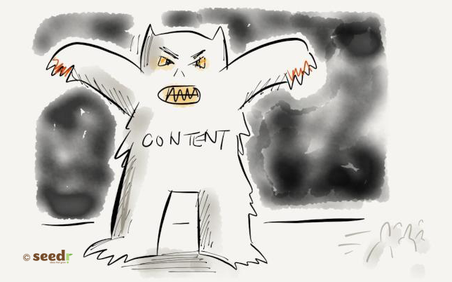 Content as a monster illustration