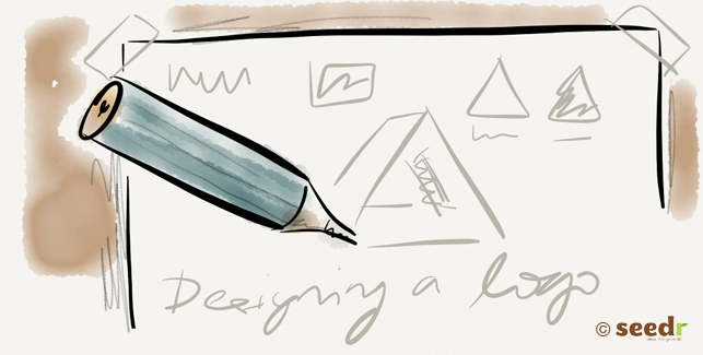 Designing a logo illustration
