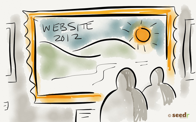 Admiring a web site illustration
