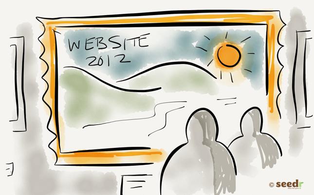 Admiring a web site illustration